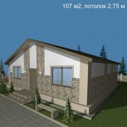 Дом стандарт планировки 107 м2, потолок 2,75-С13