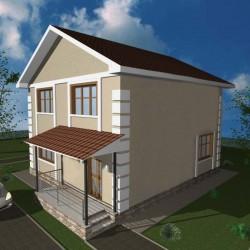 Дом премиум класса 108 м2, потолок 2,85 метра-П16