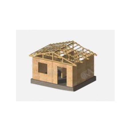 Дачный дом 20 м2, потолок 2,5