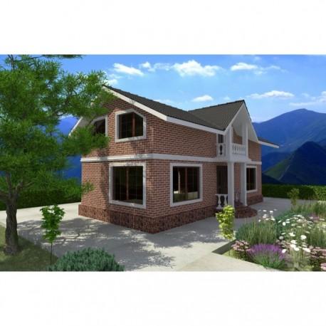 Двухэтажный дом из SIP панелей по канадской технологии, общей площадью 165 м2, высотой потолка 2,85 метра