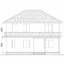 Каркасный двухэтажный дом из СИП панелей общей площадью 216 м2