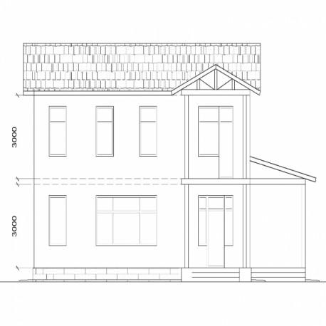Двухэтажный СИП панельный дом общей площадью 239 м2
