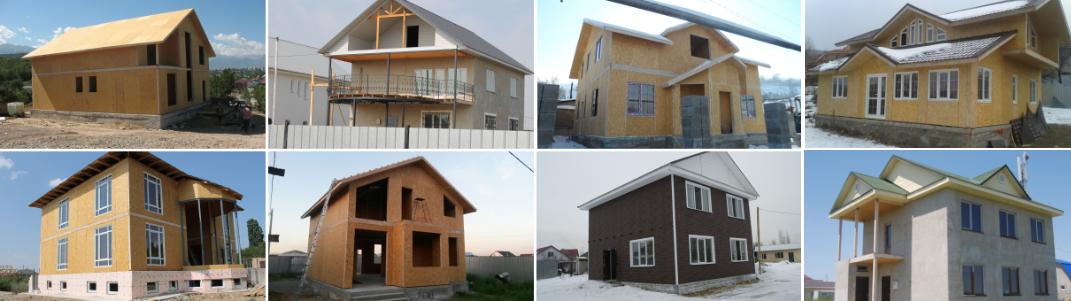 Проекты двухэтажных бысторовозводимых домов из SIP панелей